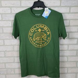 NWT Columbia Sportswear Tee Green Yellow MD